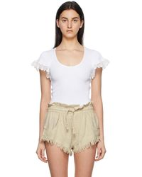 See By Chloé - ホワイト Embellished T シャツ - Lyst