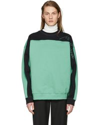 Martine Rose - Green And Black Collapsed Sweatshirt - Lyst