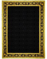 Versace Black Barocco Beach Towel
