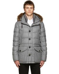 Moncler - Grey Down Rethel Jacket - Lyst