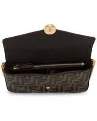 Fendi Brown Forever Envelope Bag - Black