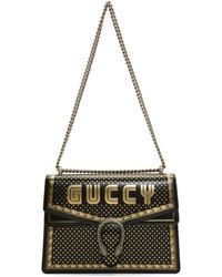 Gucci - Black Medium Sega Guccy All Over Dionysus Bag - Lyst