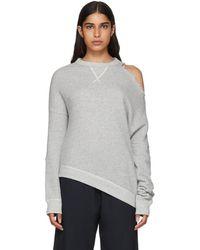 R13 - Grey Distorted Sweatshirt - Lyst