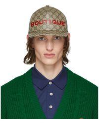 Gucci - ベージュ GG Boutique キャップ - Lyst