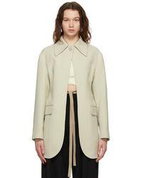 Ambush オフホワイト Jewel Button Suit ブレザー