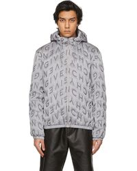 Givenchy Gray Allover Refracted Logo Thermo-quilted Windbreaker Jacket - Metallic