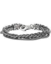 Emanuele Bicocchi - Silver Double Braided Bracelet - Lyst