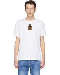 Dolce & Gabbana - ホワイト エンブロイダリー クラウン パッチ T シャツ - Lyst