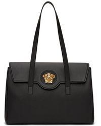 Versace ブラック & ゴールド La Medusa トート