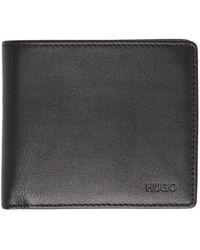 HUGO - Portefeuille a deux volets noir Subway 8-Pocket - Lyst