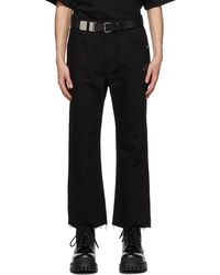 we11done Black Cropped Jeans