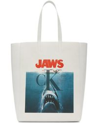 CALVIN KLEIN 205W39NYC Jaws Edition ホワイト トート