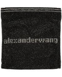 Alexander Wang - ブラック ラインストーン チェーン メッシュ Wangloc ポーチ - Lyst