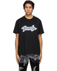 Givenchy ブラック Neon ロゴ T シャツ