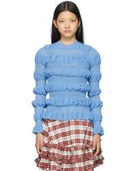 Molly Goddard ブルー Gigi セーター