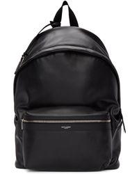 Saint Laurent Black Matte City Backpack