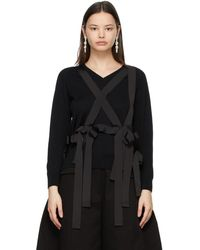 Simone Rocha ブラック Grosgrain Harness セーター