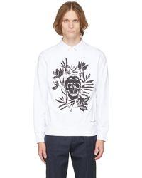 Alexander McQueen ホワイト Skull Leaves スウェットシャツ