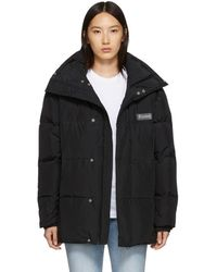 Etudes Studio Black Down Cowl Neck Coat