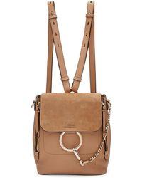 Chloé | Beige Small Faye Backpack | Lyst