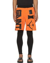 KTZ - Orange & Black Terrycloth Arrow Shorts - Lyst