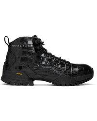 1017 ALYX 9SM ブラック クロコ ハイキング ブーツ