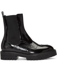 Yang Li - Black Patch Boots - Lyst