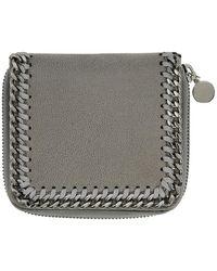 Stella McCartney - Grey Small Zip Falabella Wallet - Lyst