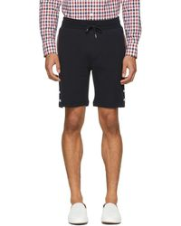 Moncler Gamme Bleu - Navy Waffle Knit Lounge Shorts - Lyst