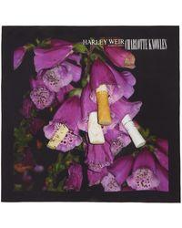CHARLOTTE KNOWLES Ssense Exclusive Black & Purple Harley Weir Edition Venom Silk Scarf - Multicolour