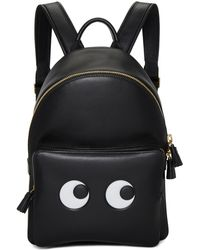 Anya Hindmarch | Black Mini Eyes Backpack | Lyst