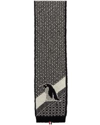 Thom Browne - Black Penguin Icon Scarf - Lyst