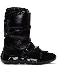 Moncler ブラック Cora Strappy パファー ブーツ