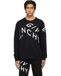 Givenchy - ブラック Refracted ロゴ スウェットシャツ - Lyst