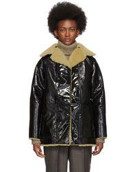 Kassl Reversible Black Lacquer Sheepskin Coat