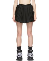Balenciaga ブラック Kilt ミニスカート