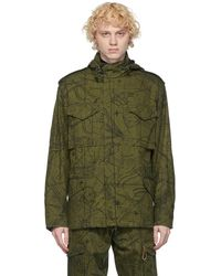 Givenchy Khaki Astral Military Jacket - Green