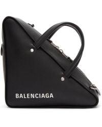 Balenciaga - Black Small Triangle Bag - Lyst