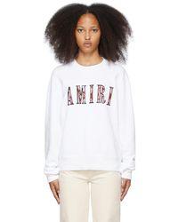 Amiri ホワイト Paisley Core ロゴ スウェットシャツ