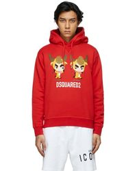 DSquared² レッド Year Of The Ox フーディ