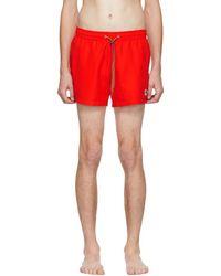 PS by Paul Smith - Red Zebra Logo Swim Shorts - Lyst