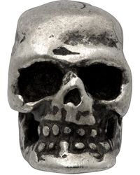 Emanuele Bicocchi Silver Tiny Skull Single Earring - Metallic