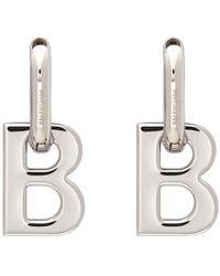 Balenciaga Boucles doreilles argentees XL B Chain - Multicolore