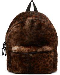 Vetements Brown & Black Shearling Leopard Backpack