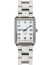 Tom Ford シルバー & ホワイト 001 腕時計 - メタリック