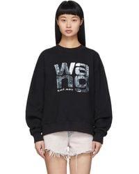 Alexander Wang Crewneck Sweatshirt With Graphic Print - Black