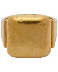 Bottega Veneta Gold-toned Ring - Metallic