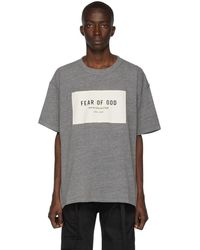 Fear Of God - T-shirt gris Sixth Collection - Lyst