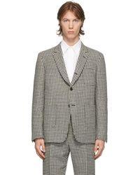 Thom Browne Blazer en tweed noir et blanc Gun Club Hunting Sack - Multicolore