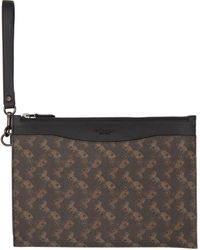 COACH ブラウン Horse & Carriage Hitch ポーチ